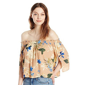NWT ASTR Anabelle Off the Shoulder Top Floral Top